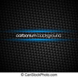 bleu, fibre, autour de, lumière, text., effet, sombre, tonalités, fond, carbone, ton, lueur