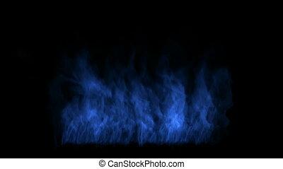 bleu, fire.