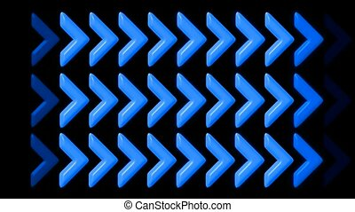 bleu, flèche, éclat