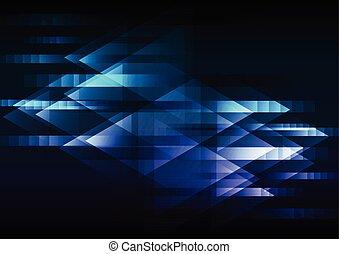 bleu, flèche, résumé, chevauchement, mouvement, fond