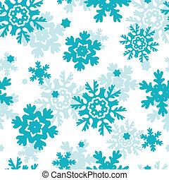bleu, flocons neige, modèle, gelée, seamless, fond