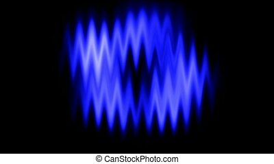 bleu, forme onde, fond