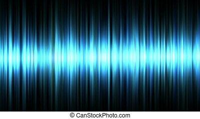 bleu, forme onde