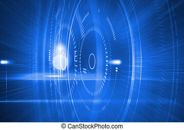bleu, futuriste, cercles