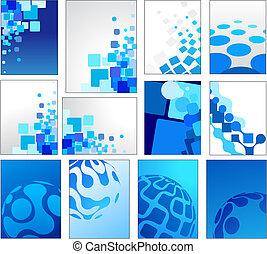 bleu, géométrique, vecteur, arrière-plans
