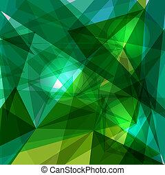 bleu, géométrique, vert, transparency.