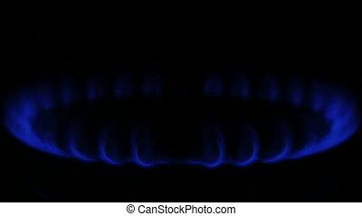 bleu, gaz naturel, flamme
