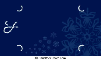bleu, -, gelée, ornement, fetes, hd
