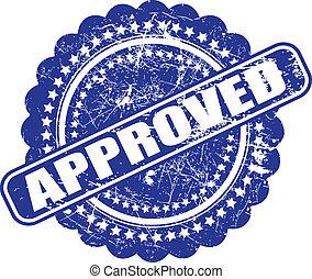 bleu, graphique, grunge, check), ceci, contient, illustration, arrière-plan., vecteur, approval(quality, encre, blanc, fait, cachet