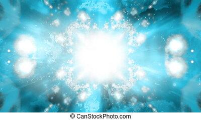 bleu, gris, abstraction, vj, cosmique, fond, animé, boucle