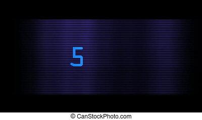 bleu, gros plan, nombres, numérique