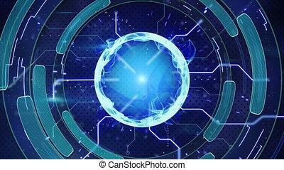 bleu, high-tech, fond, loopable