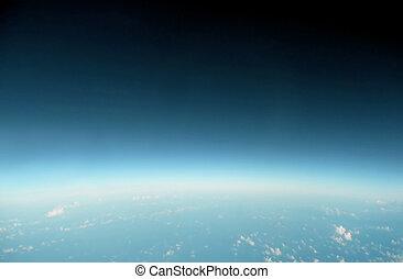 bleu, horizon