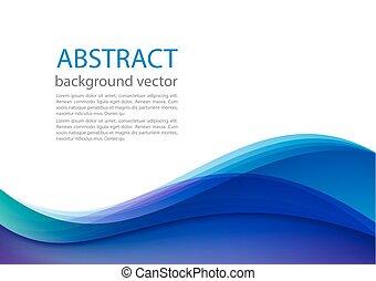 bleu, illustration., résumé, arrière-plan., vecteur, ligne