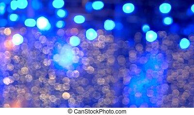 bleu, incandescent, lights.