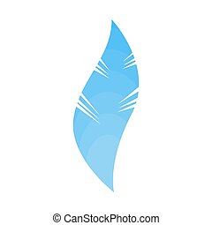 bleu, isolated., soft.?, lisser, pelucheux, plume, oiseau, penne