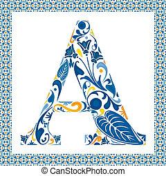 bleu, lettre