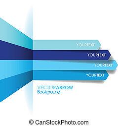 bleu, ligne, flèche, fond