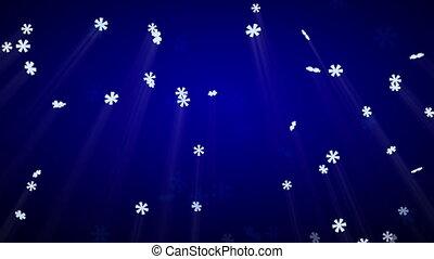 bleu, luma, seamless, chute neige, boucle