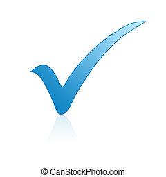 bleu, marque contrôle