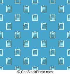 bleu, modèle, liste, seamless, vecteur, chèque
