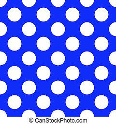 bleu, modèle, polka, seamless, papier, point