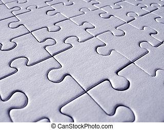 bleu, modèle, puzzle