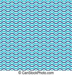 bleu, modèle, seamless, vagues océan, marin