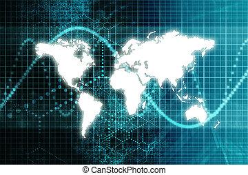 bleu, mondiale, bourse, économie