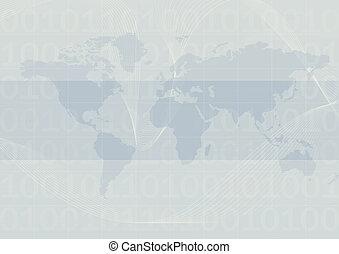 bleu, mondiale, fond