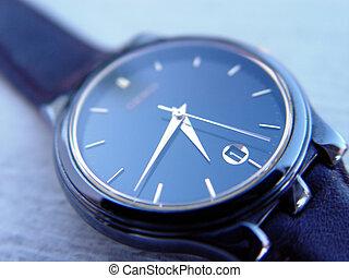 bleu, montre