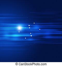 bleu, mouvement, résumé, technologie, fond