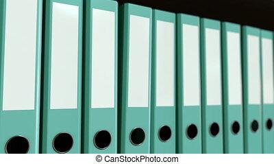bleu, multiple, bureau, binders., seamless, animation, 4k, boucle