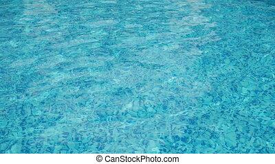 bleu, ondulations, eau, arrière-plan., carrelé, piscine, natation