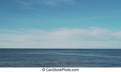 bleu, ouvert, ciel, océan
