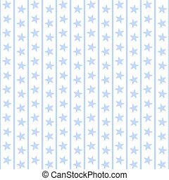 bleu, pâle, raies, étoiles, &