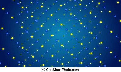 bleu, particules, résumé, fond