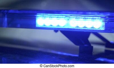 bleu, patrouille, conduite, urgence, pov, voiture, flash, lumières, autoroute, police, rouges
