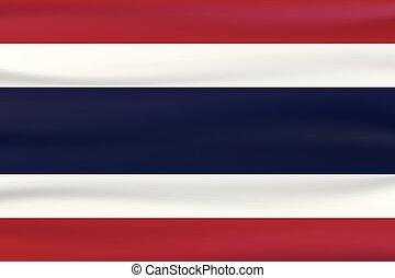 bleu, pays, color., drapeau, thaïlande, nouveau, blanc, type, rouges