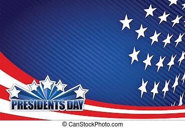 bleu, présidents, blanc, jour, rouges