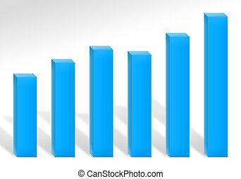 bleu, profit, diagramme