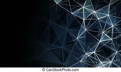 bleu, réseau, seamless, incandescent, fond, boucle