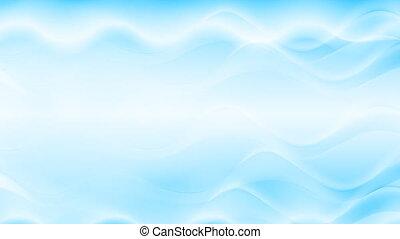bleu, résumé, écoulement, animation, vidéo, vagues