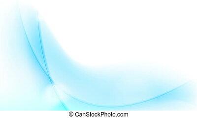 bleu, résumé, écoulement, animation, vidéo, vagues, en mouvement
