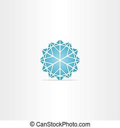 bleu, résumé, étoile, symbole, flocon de neige