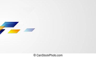 bleu, résumé, animation, vidéo, orange, géométrique