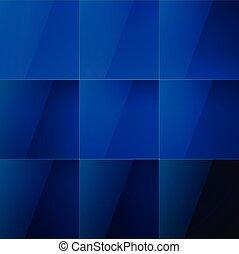 bleu, résumé, eau, fond, carrés, brillant