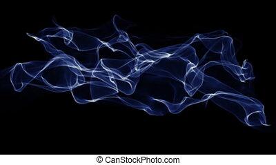bleu, résumé, fumée, fond