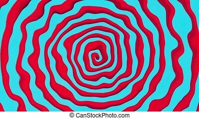 bleu, résumé, spirale, rouges