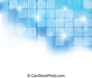 bleu, résumé, technologie, fond